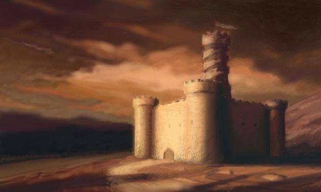 La Torre de Ashaba. Ilustración de Michael Mueller.